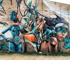 regram @tschelovek_graffiti #marlenenikita  #sweo  @jeaze_oner. #jeazeoner #jeaze #streetartfrance #francestreetart #graffitifrance #francegraffiti #граффити_tschelovek #streetart #urbanart #graffiti #mural #стритарт #граффити #wallart #graffitiart #wallpainting #muralpainting #artederua #grafite #arteurbana #muralart #graff #graffiticulture #graffitiwall #graffitiartist #streetart_daily #streetarteverywhere