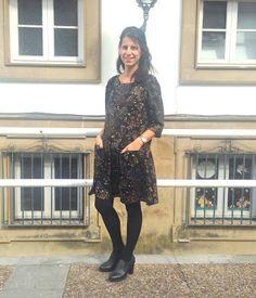 Laurita´s Place Handmade: Vestido Malvarosa de Pauline Alice y tela TejidosDeModa