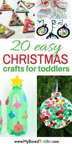 easy Christmas crafts for toddlers. Christmas activities for 1, 2 and 3 year olds. #christmastoddlers #christmascrafts #easychristmascrafts
