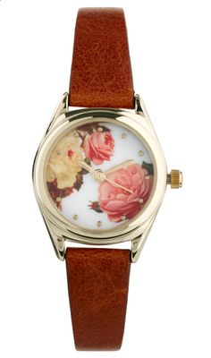 Catchpenny and Accesories - Catchpenny and Accesories - River Island Brown Floral Helen Watch - Gold-tone bezel with a rose print face- Three hand quartz movement- Faux leather strap / Lyst - 7 Tips to combine catchpenny and accesories - 7 Tips to combine catchpenny and accesories