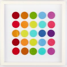 Grid of Coloured Circles - hardtofind.