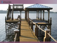 The Boathouse: a new definition to lakefront living! Lake Dock, Boat Dock, Dock House, My House, Cedar Creek Lake, Natural Swimming Ponds, Lakefront Property, Boat Slip, Lake Cabins