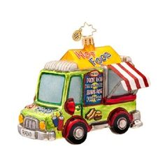 Christopher Radko A QUICK BITE FOOD TRUCK Christmas ornament NEW for 2014~ a FOODIE FAVORITE!