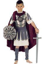 Gladiator Kinderkostüm Römer silber-weiss
