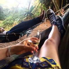 The perfect way to unwind during vacation  - a hammock & wine! #vino #wine #relaxation #vacation