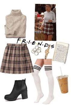 Monica Geller Outift # 4 Outfit - New Ideas Tv Show Outfits, Style Outfits, Retro Outfits, Fall Outfits, Vintage Outfits, Cute Outfits, Clueless Outfits, Grunge Outfits, Cher Clueless Costume