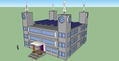 Shipping Container Castle 10k-sqft w wind turbines on each end