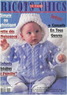 Tricots chics de Paris famille Knitting Books, Baby Knitting, Paris, Knit Crochet, Crochet Hats, Crochet Magazine, Free Pattern, Catalog, Archive