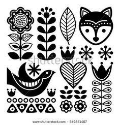 Image result for nordic flower patterns