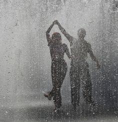 <3 dancing in the rain