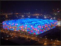 The Water Cube (Beijing National Aquatics Center), Beijing, China. 2008 Summer Olympics.