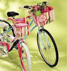 Fabric bike basket