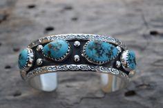 Naturelles Turquoises argent.925 argent Sterling Navajo