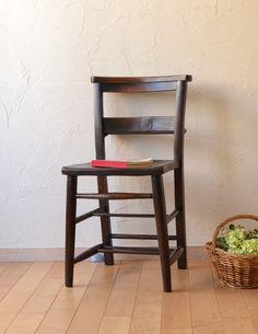 教会で使われていたアンティークの椅子、木製のチャペルチェア (k-844-c-1)