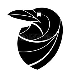 Stylized raven head Stock Vector