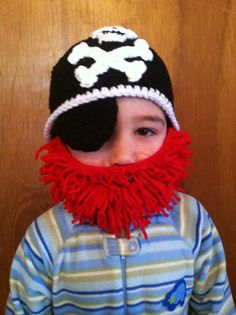 Crochet Pirate Hat & Beard