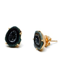 Dark Geode Earrings