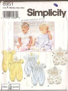 GOT THIS Simplicity 8951, smocked romper