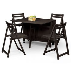 Linon Space Saver 5 Piece Dining Set   Wenge