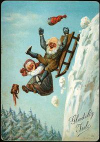 Norske kartongkort / overrekkelseskort. Christmas Fairy, Christmas Quotes, Vintage Christmas, Christmas Cards, Christmas Postcards, Santa Christmas, Norwegian Christmas, Dashing Through The Snow, Antique Photos