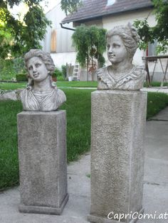 """Girl's Bust on Higher Plinth"" Antiksteinguss (winterfest) Garden Sculpture, Outdoor Decor, Home Decor, Sculptures, Stone Sculpture, Stones, Decoration Home, Room Decor, Home Interior Design"