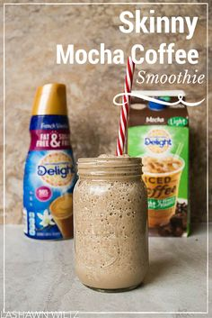 sometimes, from the moment I wake up, I am running and sometimes forget breakfast, I created a Skinny coffee breakfast smoothie using International Delight Iced Coffee. Healthy Smoothies, Healthy Drinks, Healthy Iced Coffee, Green Smoothies, Homemade Iced Coffee, Eat Healthy, Mokka Smoothie, International Delight Iced Coffee, Coffee Breakfast Smoothie