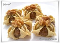 Jasmin, el yasmina aux noix Cookie Desserts, Cookie Recipes, Arabic Sweets, Wedding Sweets, Food L, No Cook Meals, Afternoon Tea, Dishes, Cookies
