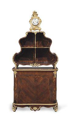 A LOUIS XV KINGWOOD, ROSEWOOD, BOIS SATINE AND BOIS DE BOUT MARQUETRY CARTONNIER…