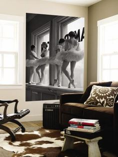 Ballerinas on Window Sill in Rehearsal Room at George Balanchine's School of American Ballet Wall Mural by Alfred Eisenstaedt at Art.com