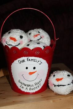 Snowball Fight in a Bucket $15.00 each.