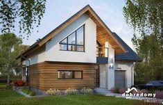 Elsa - Dobre Domy Flak & Abramowicz Flat House Design, Minimal House Design, Minimal Home, Modern Bungalow Exterior, Modern Bungalow House, House Roof, Facade House, Bungalow Renovation, Village Houses