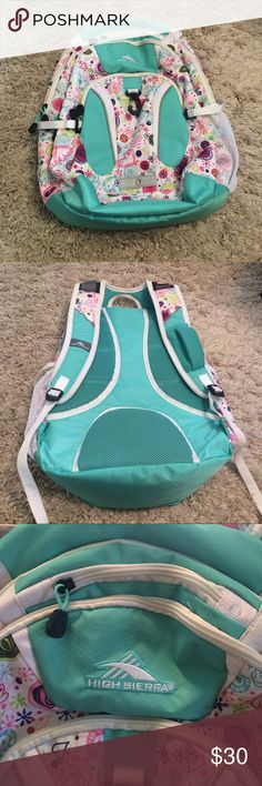 Backpack High Sierra backpack. Holds a lot. Only used once. Bags Backpacks