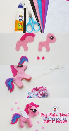 Sewing Stuffed Animals My Little Pony Sewing Pattern (Free) and Tutorial - My Little Pony Sewing Pattern (Free) and Tutorial My Little Pony Craft, Cumple My Little Pony, My Little Pony Plush, Diy Sewing Projects, Sewing Projects For Beginners, Sewing Tutorials, Clay Tutorials, Animal Sewing Patterns, Sewing Patterns Free