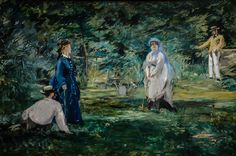 Edouard Manet - A Game of Croquet, 1873 at Städel Art Museum Frankfurt Germany