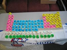 Science Birthday - Periodic Table Cupcakes! = Awesome!