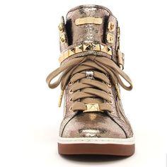 Michael Kors Metallic Glam Studded High-Top - http://threenkle.com/michael-kors-metallic-glam-studded-high-top/