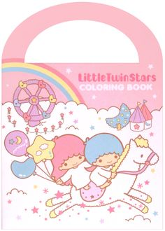 Sanrio Little Twin Stars Clouds Coloring Book w/ Stickers http://shop.kawaiidepot.com