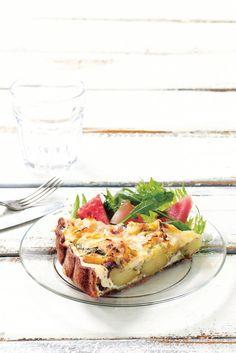 Peruna-anjovispiirakka   K-ruoka