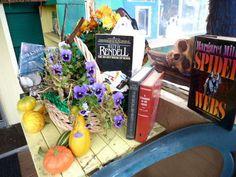 porch decor: books