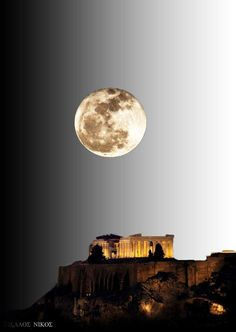 The Secret Greece is a cultural portal showcasing articles for Greece, suggesting destinations, gastronomy, history, experiences and many more. Greece in all Beautiful Islands, Beautiful Places, Wonderful Places, Athens Greece, Acropolis Greece, Moon Photos, Good Night Moon, Night Light, Moon Photography