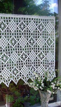 livemaster.ru Crochet Curtain Pattern, Crochet Curtains, Curtain Patterns, Doily Patterns, Hand Embroidery Patterns, Crochet Doilies, Crochet Patterns, Crochet Owls, Crochet Home