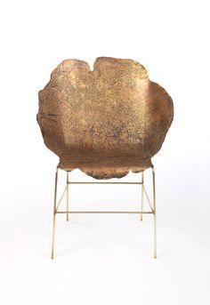 amazing wood stump grain chair // Sharon Sides