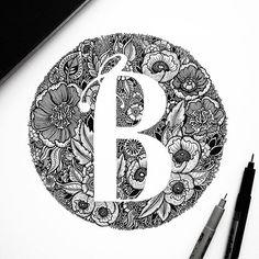 """Blossom Blooms"" a florist shop logo // fully handmade // #b #lettering…"