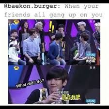 Lol poor Baek had to drink the bitter gourd juice haha