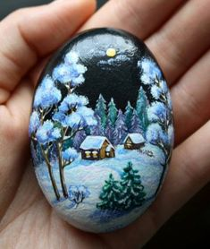 I'm not talented enough to do this kind of painting, but it is beautiful. Maybe if I had a very Large rock! ;)