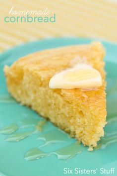 Easy Homemade Cornbread from SixSistersStuff.com More