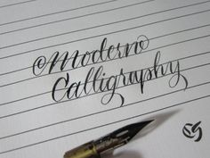 Janet style free calligraphy worksheet exemplar letter form