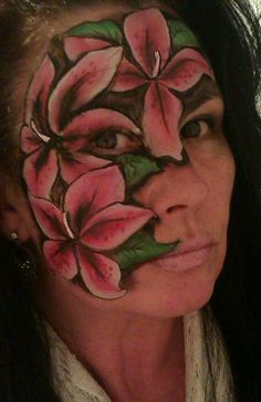 Flower face painting