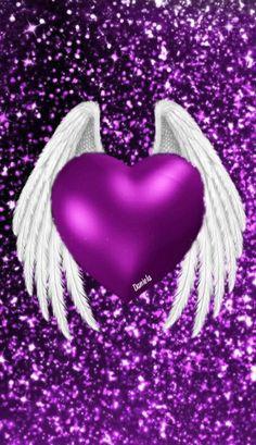 Heart Wallpaper, Wallpaper Backgrounds, Wallpapers, Cute Bedroom Ideas, Angel Heart, Purple Art, Diamond Heart, Pattern Wallpaper, Christmas Ornaments