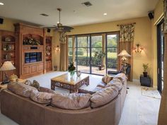 tailored window treatments for family room sliding glass doors